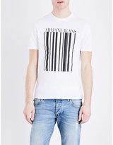 Armani Jeans Barcode Cotton T-shirt