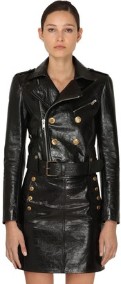 Givenchy Cropped Vintage Leather Biker Jacket