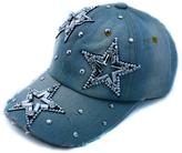 Denim Rhinestone Stars Baseball Cap