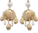 Dannijo Lauren Sea Shell Clip-On Earrings