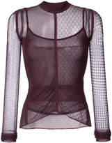 Jason Wu lace and net detailed top