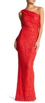 Marina Embellished One Shoulder Long Dress