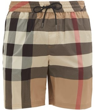 Burberry Exploded Check Swim Shorts - Beige