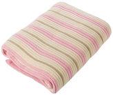 NEW Branberry Pink Mint & White Stripe Cot Blanket