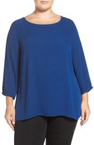 Sejour Plus Size Women's Zip Back Blouse