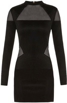 Balmain Mesh-insert mini dress