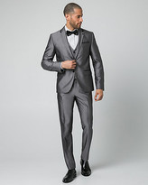 Le Château Shiny Herringbone Slim Fit Blazer