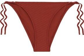 Zimmermann Ribbed Low-rise Bikini Briefs