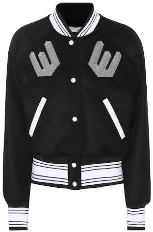 Off-White Wool-blend varsity jacket