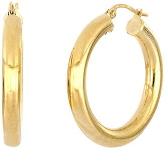 Bony Levy 14K Yellow Gold Thick Tube 28mm Hoop earrings