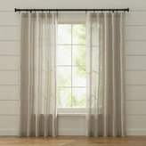 Crate & Barrel Ellsbury Linen with Green Stripe Curtains