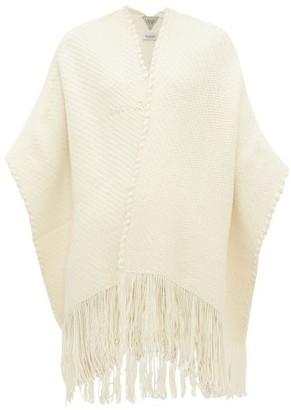 Wehve - Fringed Merino Wool-blend Cardigan - Womens - Ivory