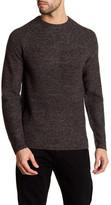 Ben Sherman Rib Knit Crew Neck Wool Blend Sweater