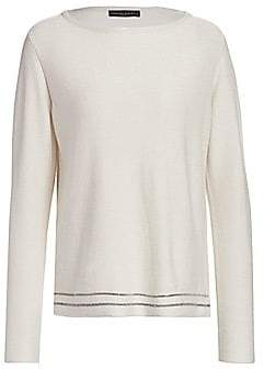 Fabiana Filippi Women's Cashmere & Lurex Brilliant-Trim Knit Sweater