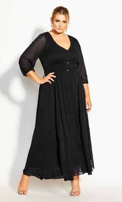 City Chic Love Affair Maxi Dress - black