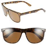 Ray-Ban Men's 'Boyfriend' 60Mm Polarized Sunglasses - Light Havana/ Brown P