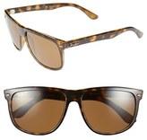 Ray-Ban Men's 'Boyfriend' 60Mm Polarized Sunglasses - Light Havana/ Brown P