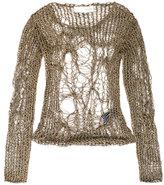 Isabel Benenato netting top - women - Cotton - 40