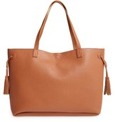 Sole Society Large Lex Faux Leather Tote - Brown