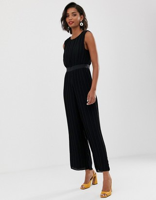 Y.A.S pleated open back jumpsuit