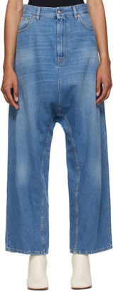 MM6 MAISON MARGIELA Blue Baggy Crotch Jeans