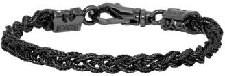 Emanuele Bicocchi Black Tiny Braided Bracelet