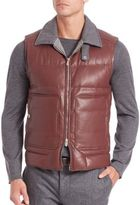Brunello Cucinelli Leather Vest
