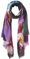 Bindya Cashmere/Silk Stole Abstract Brush Stroke Scarf Scarves