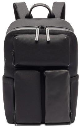 Troubadour Explorer Ridge Canvas And Leather Backpack - Black