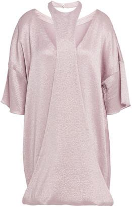 Valentino Cutout Textured-lame Mini Dress