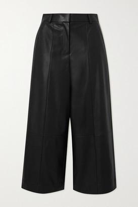 Jason Wu Belted Faux Leather Wide-leg Pants - Black
