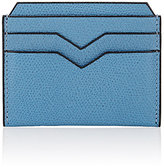 Valextra Men's Flat Card Case-BLUE