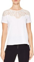 Sandro Blind Lace Inset Top