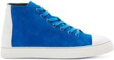 Pierre Hardy Cobalt Blue Suede Frisco Sneakers