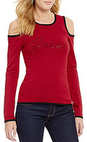 GUESS Holly Long-Sleeve Cold-Shoulder Sweater