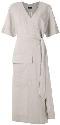 OSKLEN Wrap Natural Rustic midi dress