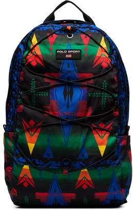 Polo Ralph Lauren Heritage geometric pattern backpack