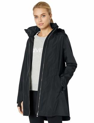 Calvin Klein Women's Stow Hood Tulip Sleeve Jacket