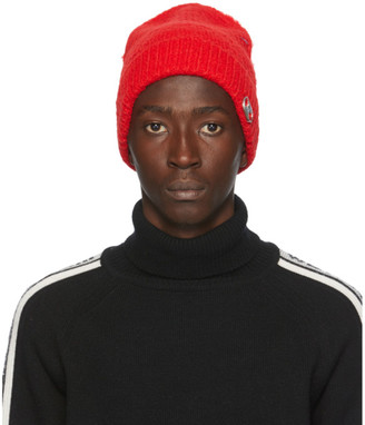 we11done Red Logo Beanie