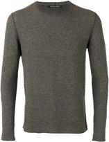 Hannes Roether - crewneck slim-fit sweater - men - Cotton - M