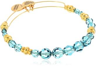 "Alex and Ani Swarovski Beaded"" Sky Expandable Wire Gold Bangle Bracelet"