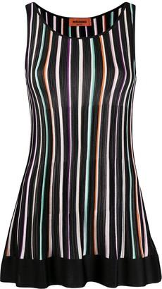 Missoni Striped Sleeveless Shift Top