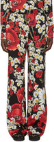 Dolce & Gabbana Red Floral Lounge Pants