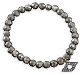 Chan Luu Diamond and Sterling Silver Evil Eye Stretch Bracelet