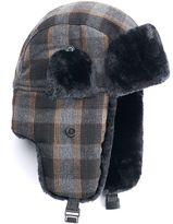 Chaps Men's Wool-Blend Faux-Fur Trapper Hat