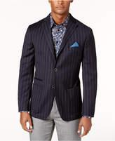 Tallia Men's Big & Tall Slim-Fit Navy Stripe Soft Wool Sport Coat