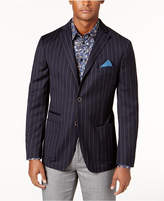 Tallia Men's Slim-Fit Navy Striped Soft-Constructed Sport Coat