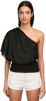 Redemption One-shoulder Silk Blend Top