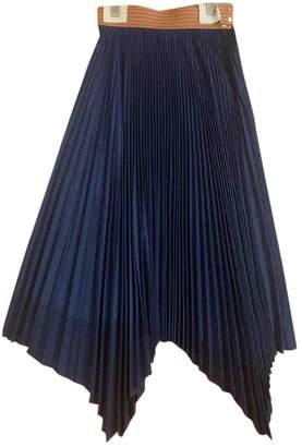Loewe Navy Cotton Skirt for Women
