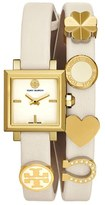 Tory Burch Women's 'Saucy' Double Wrap Leather Strap Watch, 25Mm